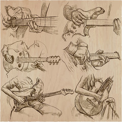 an hand drawn collection, vector pack - GUITAR SOLO
