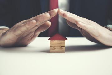 man hand house model