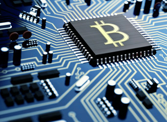 bitcoin or litecoin cryptocurrency trading and mining concept