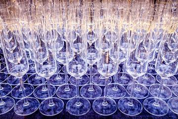 empty champagne glasses