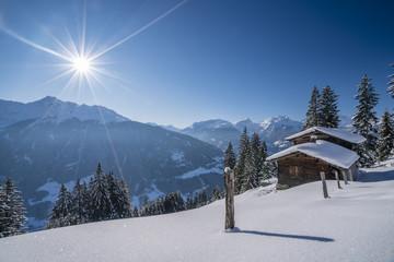 Winter in den Alpen