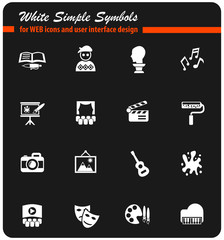 art white icon set