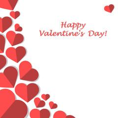 Decor of hearts for design, imitation paper. Happy valentine's day