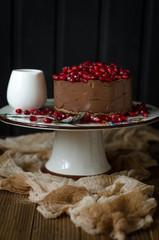 Chocolate cheesecake without baking on avocado agar