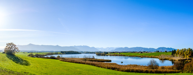 riegsee lake in bavaria