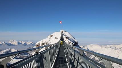 Nature, Alps, Peak Walk, Glacier, Switzerland, sky, snow