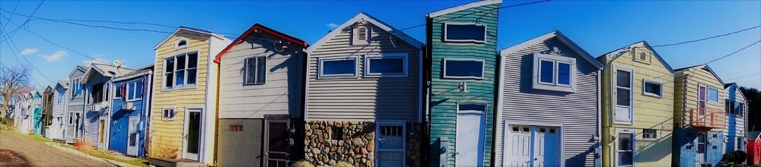 Beach Town Panorama - Row Houses