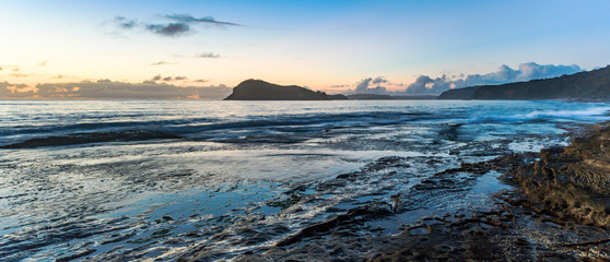 Panoramic Dawn Seascape