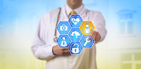 Doctor Activating Managed Health Care Services