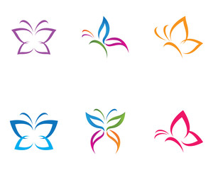 Butterfly Logo Template Beauty Butterfly Logo Template Vector icon design