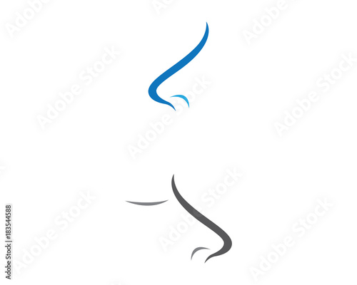 nose logo template vector icon illustration design stock image and