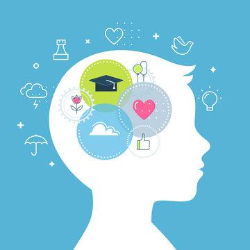 Emotional Intelligence, Feeling and Emotions Concept Vector Illustration