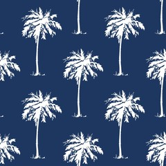 Palm tree pattern seamless texture. Simple illustration of palm tree vector pattern seamless for any web design or textile. Abstract background. Vector.