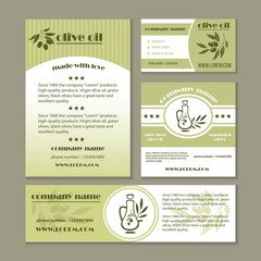 Olive oil product and Italian olives banners for extra virgin cooking or salad oil product. Vector design set of black and green olive branches for natural organic bottle label.