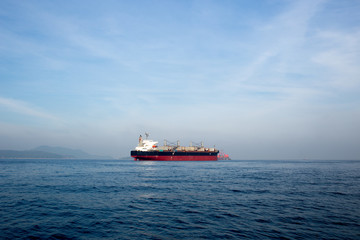 Oil and gas tanker ship