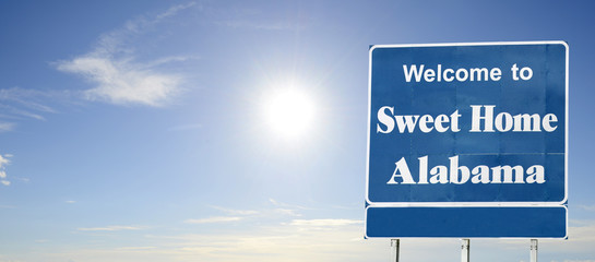 Alabama, Welcome road sign