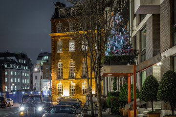 Mayfair in Christmas evening, London