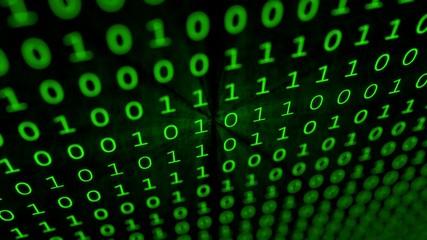 Green binary matrix array background