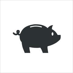 Piggy bank icon. Vector Illustration