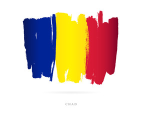 Flag of Chad. Abstract concept