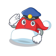 Police Christmas hat character cartoon