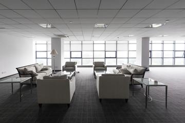 interior of modern lobby