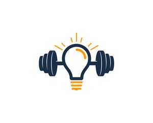Creative Barbell Icon Logo Design Element