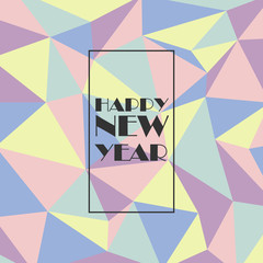 Happy new year with polygon background