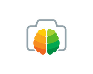 Photo Brain Icon Logo Design Element