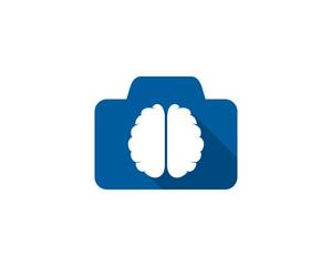 Brain Camera Icon Logo Design Element