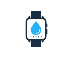 Smartwatch Water Icon Logo Design Element