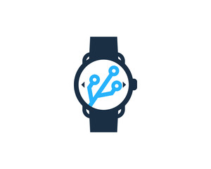 Smartwatch Tech Icon Logo Design Element