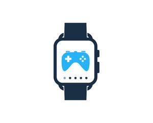 Smartwatch Game Icon Logo Design Element