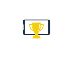 Smartphone Award Icon Logo Design Element