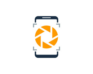 Smartphone Camera Icon Logo Design Element
