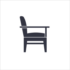 Armchair icon. Vector Illustration