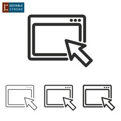 Browser line vector icon. Editable stroke.