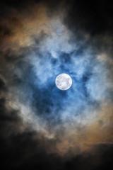 Night Photo of the full moon