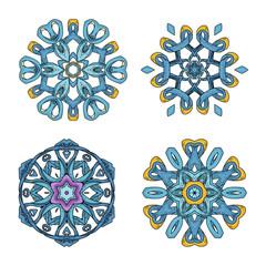 Mandala set. Abstract decorative background. Islam, Arabic, oriental, indian, ottoman, yoga motifs