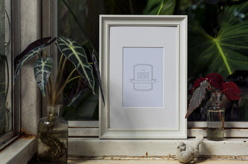 Design space photo with frame