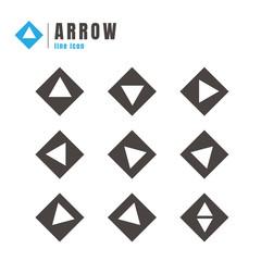 Arrows icons set. on white background. web. logo. vector illustration