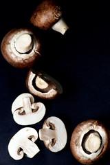 Raw Portobello Mushrooms
