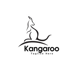 Stand kangaroo logo