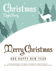 Merry Christmas silhouette style background