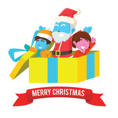 Merry christmas present illustration design– stock illustration