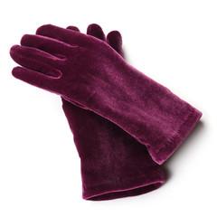 burgundy velvet gloves