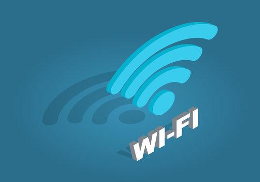 Wi-Fi Network Icon. Flat Design Cartoon Style