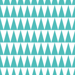 Vector seamless pattern decorative geometric background made from triangle in turquoise color. Aquamarine design