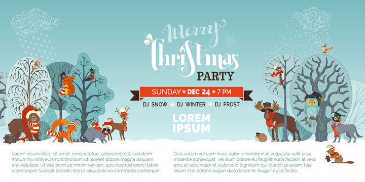 Merry Christmas party template.