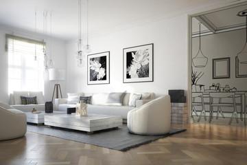Raumadaptation: Wohnzimmer (Konzeption)